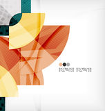 Semicircle geometric vector abstract background Royalty Free Stock Image