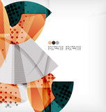 Semicircle geometric vector abstract background Royalty Free Stock Photography
