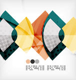 Semicircle geometric vector abstract background Royalty Free Stock Photo