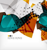 Semicircle geometric vector abstract background Stock Photos