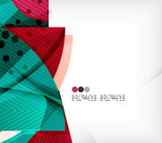 Semicircle geometric vector abstract background Stock Images