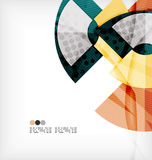 Semicircle geometric vector abstract background Royalty Free Stock Photos