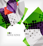 Semicircle geometric vector abstract background Stock Photo