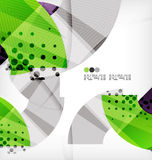 Semicircle geometric vector abstract background Stock Image