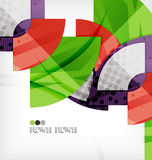 Semicircle geometric vector abstract background Royalty Free Stock Images