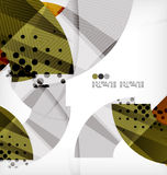 Semicircle geometric vector abstract background Stock Photography