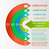 Semicircle infographic concept Stock Photography