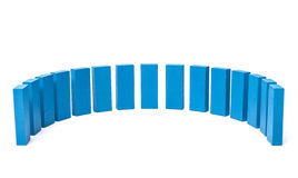 Semicircle out of blue blocks Royalty Free Stock Photo