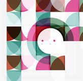 Semicircle triangle pattern Stock Photography