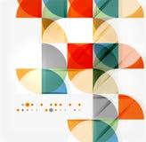 Semicircle triangle pattern Stock Image