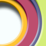 Semicircles of colors, illustration Royalty Free Stock Images