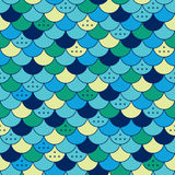 Semicircles seamless pattern. Tile or fish scale Stock Images