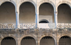 Semicircular arches. Castilian it´s situated in the spanish village of Bornos Royalty Free Stock Image