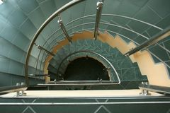 Semicircular Stairs. The way down Stock Images
