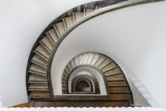 Semicircular winding stair Royalty Free Stock Photos