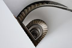 Semicircular winding stair Stock Images