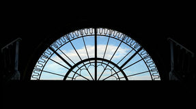 Semicircular window backlit Royalty Free Stock Photography