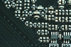 Semiconductor Electronics components stock images