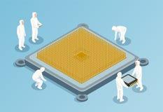 Semiconductor Isometric Vector Illustration stock illustration