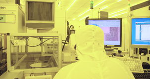 Semiconductor manufacturing process in a clean room