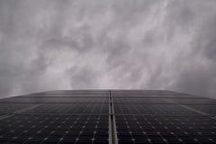 Semidarkness fotovoltaico Foto de archivo libre de regalías