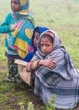 Semien山的,埃塞俄比亚孩子 免版税图库摄影