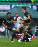 Semifinal bowl match Spain vs Germany in Rugby 7 Grand Prix Series in Moscow Stock Image