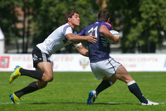 Semifinal cup match Scotland vs Portugal in Rugby 7 Grand Prix Series in Moscow Stock Photography