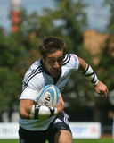 Semifinal cup match Scotland vs Portugal in Rugby 7 Grand Prix Series in Moscow Stock Images