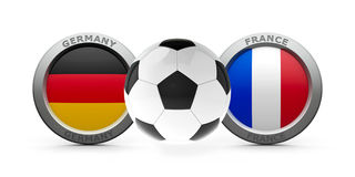 Semifinal Euro 2016 - Germany vs. France Stock Photos