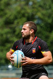 Semifinal plate match Belgium vs Wales in Rugby 7 Grand Prix Series in Moscow Stock Photos