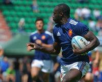 Semifinal plate match France vs Russia in Rugby 7 Grand Prix Series in Moscow Stock Photography
