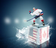 Semifinal Playoff tournament game USA vs Canada Royalty Free Stock Photos