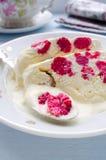 Semifreddo десерта мороженого поленики Стоковые Фотографии RF