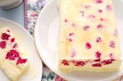 Semifreddo десерта мороженого поленики Стоковая Фотография