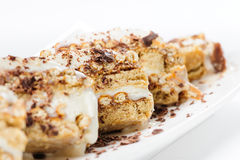 Semifreddo dessert with ice cream and cookies Royalty Free Stock Images