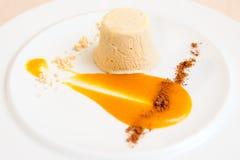 Semifreddo dessert in plate, close-up Stock Photos