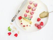Semifreddo (italian Cheese Ice-cream Dessert) With Pistachios An Royalty Free Stock Photos