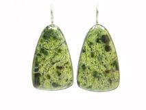 semigem серег зеленое серебристое Стоковые Изображения