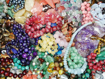 Semigem crystals beads jewellery Stock Photography