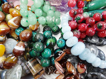 Semigem crystals beads jewellery Royalty Free Stock Photo