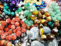 Semigem crystals beads jewellery Royalty Free Stock Image