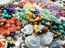 Semigem crystals beads jewellery royalty free stock images