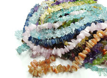 Semigem crystals beads jewellery Royalty Free Stock Photography