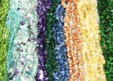 Semigem halsband med ljusa kristallsmycken Royaltyfria Bilder