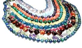 Semigem-Halskette mit hellem Kristallschmuck Lizenzfreie Stockbilder