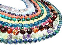 Semigem-Halskette mit hellem Kristallschmuck Lizenzfreies Stockfoto