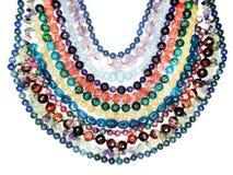 Semigem-Halskette mit hellem Kristallschmuck Stockfotos