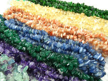 Semigem-Halskette mit hellem Kristallschmuck Stockfotografie
