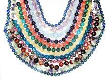 Semigem-Halskette mit hellem Kristallschmuck Lizenzfreie Stockfotos